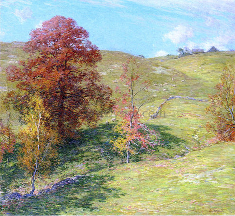 Willard Leroy Metcalf The Red Oak (no.2) - Hand Painted Oil Painting