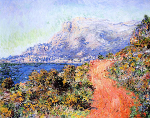 Claude Oscar Monet The Red Road near Menton - Hand Painted Oil Painting