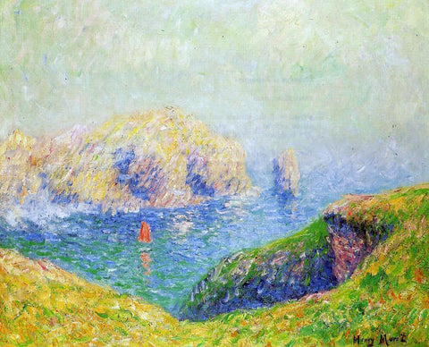 Henri Moret The Red Sail - Hand Painted Oil Painting