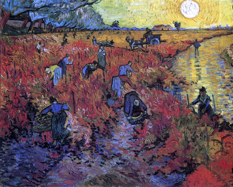 Vincent Van Gogh The Red Vinyard - Hand Painted Oil Painting