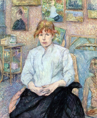 Henri De Toulouse-Lautrec The Redhead with a White Blouse - Hand Painted Oil Painting