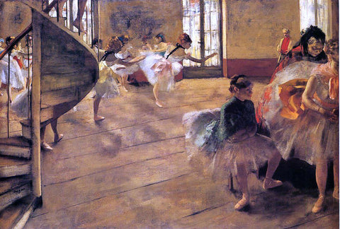 Edgar Degas A Rehearsal - Hand Painted Oil Painting