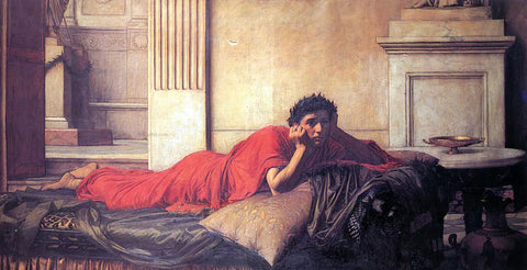 John William Waterhouse The Remorse of Nero After the Murder of His Mother - Hand Painted Oil Painting