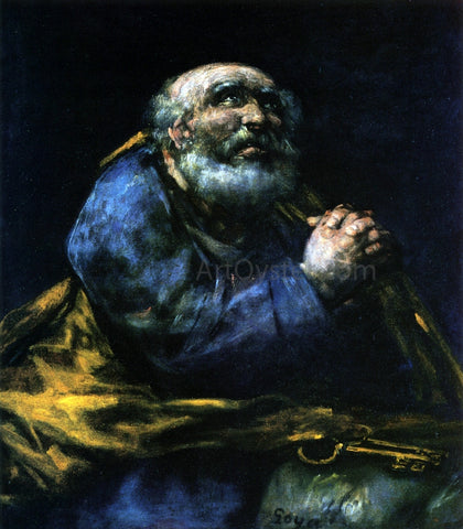 Francisco Jose de Goya Y Lucientes The Repentant Saint Peter - Hand Painted Oil Painting