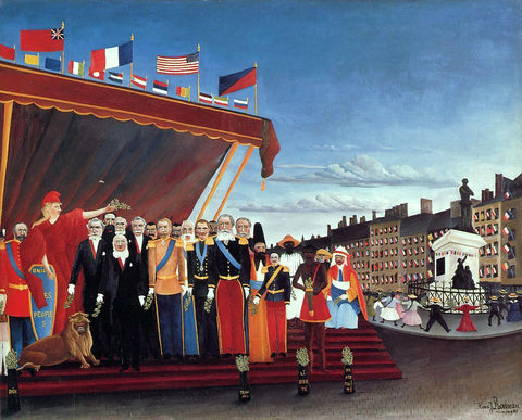 Henri Rousseau The Representatives of Foreign Powers Coming to Greet the Republic as a Sign of Peace - Hand Painted Oil Painting