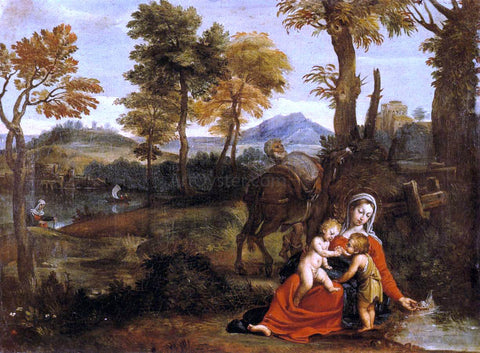 Domenichino The Rest on the Flight into Egypt - Hand Painted Oil Painting