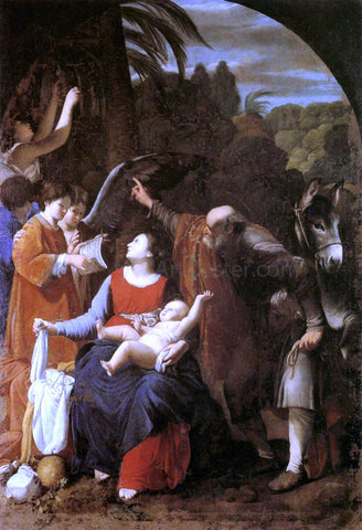 Carlo Saraceni The Rest on the Flight into Egypt - Hand Painted Oil Painting