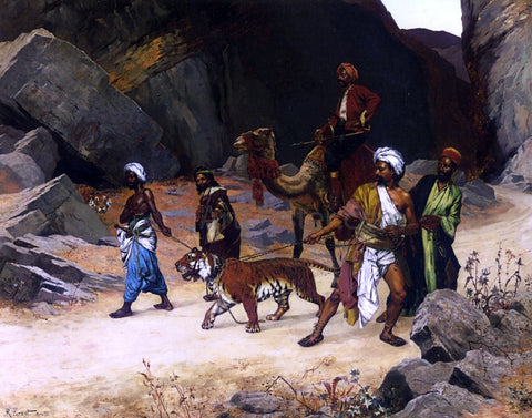 Rudolph Ernst The Return from the Tiger Hunt - Hand Painted Oil Painting