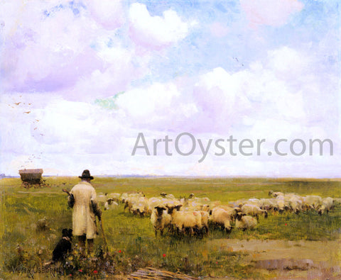 Walter Frederick Osborne The Return of the Flock - Hand Painted Oil Painting