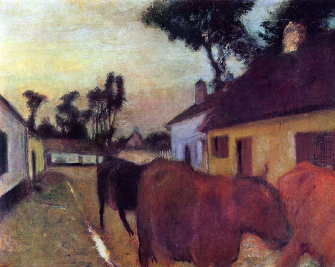 Edgar Degas The Return of the Herd - Hand Painted Oil Painting