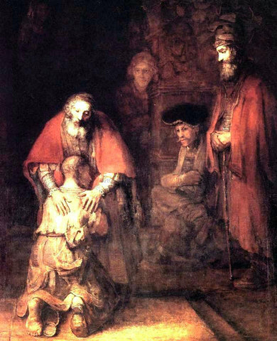 Rembrandt Van Rijn The Return of the Prodigal Son - Hand Painted Oil Painting