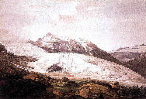 William Pars The Rhone Glacier and the Source of the Rhone - Hand Painted Oil Painting