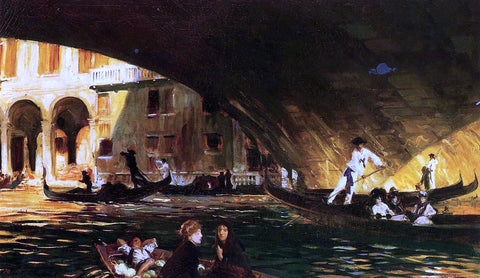 John Singer Sargent The Rialto - Hand Painted Oil Painting