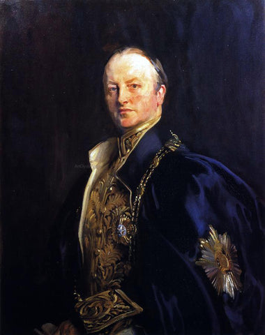 John Singer Sargent The Right Honourable Earl Curzon of Kedleston (George Nathanial Curzon) - Hand Painted Oil Painting