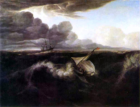 Washington Allston The Rising of a Thunderstorm at Sea - Hand Painted Oil Painting