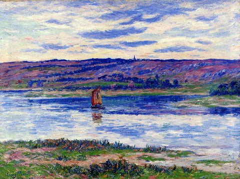 Henri Moret The River Basin, Finistere - Hand Painted Oil Painting