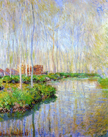 Claude Oscar Monet The River Epte - Hand Painted Oil Painting