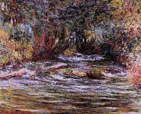 Claude Oscar Monet The River Epte at Giverny - Hand Painted Oil Painting