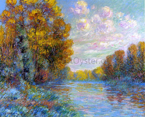Gustave Loiseau The River in Autumn - Hand Painted Oil Painting