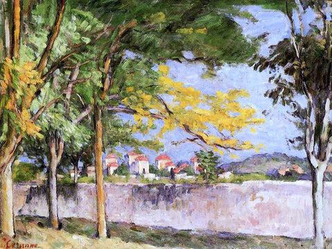 Paul Cezanne The Road (also known as The Ancient Wall) - Hand Painted Oil Painting