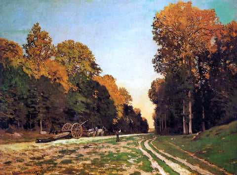 Claude Oscar Monet The Road from Chailly to Fontainebleau - Hand Painted Oil Painting