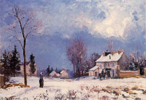 Camille Pissarro The Road from Versalles to Saint-Germain at Louveciennes - Hand Painted Oil Painting