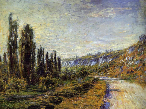 Claude Oscar Monet The Road from Vetheuil - Hand Painted Oil Painting
