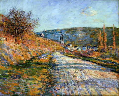 Claude Oscar Monet The Road to Vetheuil - Hand Painted Oil Painting