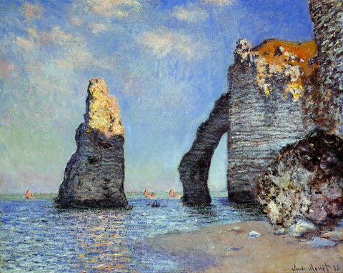 Claude Oscar Monet The Rock Needle and the Porte d'Aval - Hand Painted Oil Painting