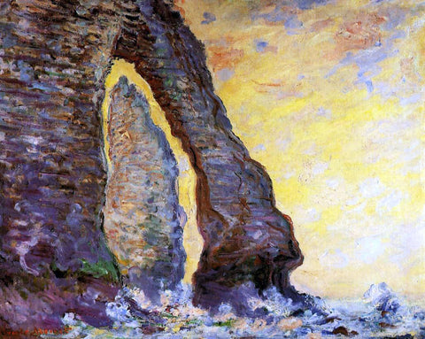 Claude Oscar Monet The Rock Needle Seen through the Porte d'Aval - Hand Painted Oil Painting