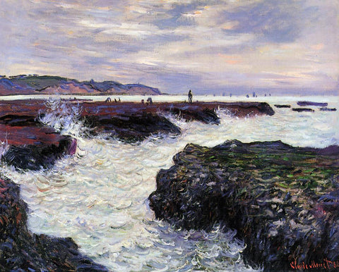 Claude Oscar Monet The Rocks at Pourville, Low Tide - Hand Painted Oil Painting