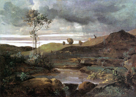 Jean-Baptiste-Camille Corot The Roman Campagna in Winter - Hand Painted Oil Painting