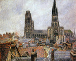 Camille Pissarro The Roofs of Old Rouen: Grey Weather (also known as The Cathedral) - Hand Painted Oil Painting