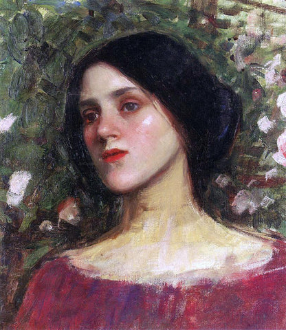 John William Waterhouse The Rose Bower - Hand Painted Oil Painting