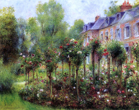 Pierre Auguste Renoir The Rose Garden at Wargemont - Hand Painted Oil Painting