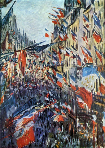 Claude Oscar Monet The Rue Saint-Denis, 30th of June 1878 - Hand Painted Oil Painting