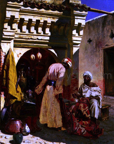 Rudolph Ernst The Rug Merchant - Hand Painted Oil Painting