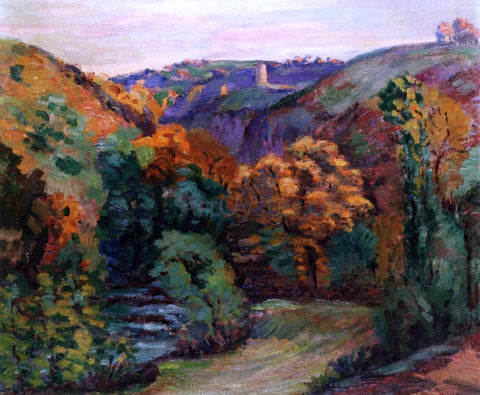 Armand Guillaumin The Ruins of the Chateau at Crozant - Hand Painted Oil Painting