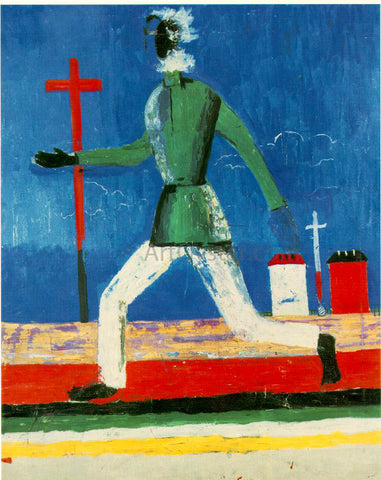 Kazimir Malevich The Running Man - Hand Painted Oil Painting