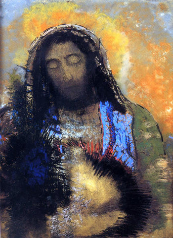 Odilon Redon The Sacred Heart - Hand Painted Oil Painting