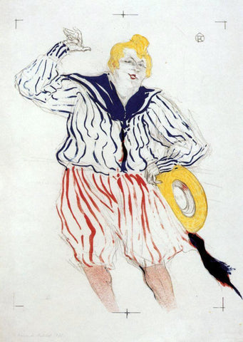 Henri De Toulouse-Lautrec The Sailor's Sopng, at the 'Star', Le Havre - Hand Painted Oil Painting