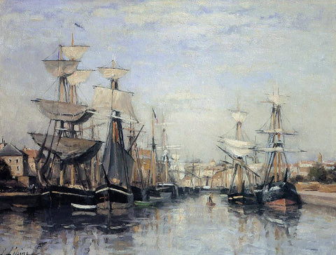 Stanislas Lepine The Saint Pierre Basin - Hand Painted Oil Painting