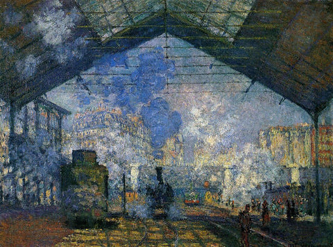 Claude Oscar Monet The Saint-Lazare Station - Hand Painted Oil Painting