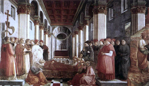 Fra Filippo Lippi The Saint's Funeral - Hand Painted Oil Painting