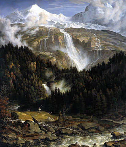 Joseph Anton Koch The Schmadribach Falls - Hand Painted Oil Painting