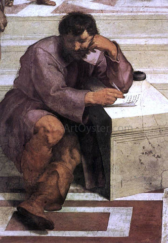 Raphael The School of Athens (detail 2) (Stanza della Segnatura) - Hand Painted Oil Painting