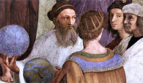 Raphael The School of Athens (detail 7) (Stanza della Segnatura) - Hand Painted Oil Painting