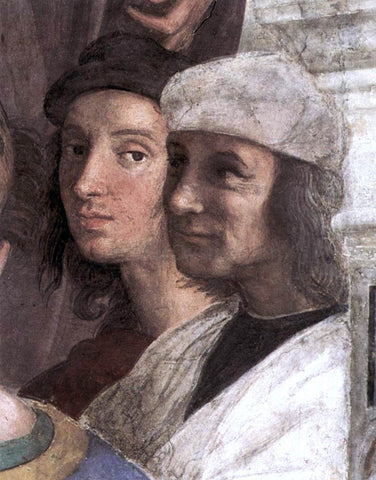 Raphael The School of Athens (detail 8) (Stanza della Segnatura) - Hand Painted Oil Painting