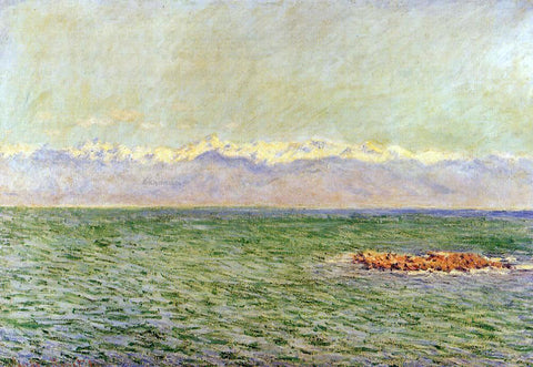 Claude Oscar Monet The Sea and the Alps (also known as The Mediterranean at Antibes) - Hand Painted Oil Painting