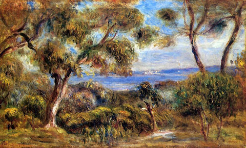Pierre Auguste Renoir The Sea at Cagnes - Hand Painted Oil Painting
